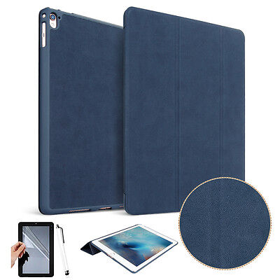 "For Apple iPad Pro 10.5"" 2017 Tablet Luxury Folio Leather Stand Case Cover Navy"