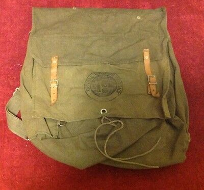Vintage BSA Cub Boy Scout Yucca Canvas Official Camping Backpack Army Green