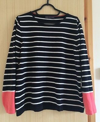 M&S Collection Striped Jumper Top Casual Size 12