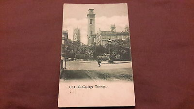 Old postcard of U. F. C. College Towers, Glasgow, Scotland 1903