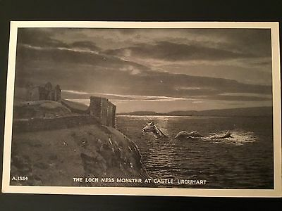 Postcard The Loch Ness Monster at Castle Urquhart, Inverness-shire - unused