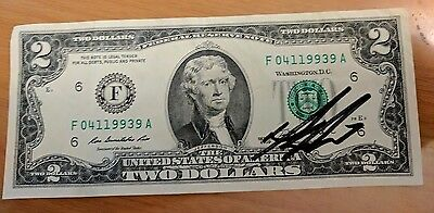 HAMILTON two dollar $ bill signed Daveed Diggs play Broadway MUSICAL Tony winner