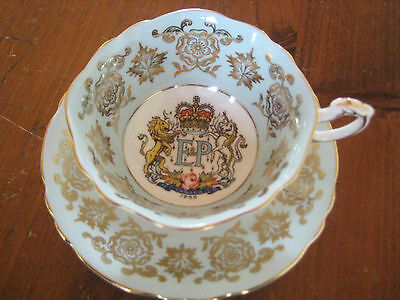Paragon China 1959 Queen Elizabeth St.lawrence Seaway Cup & Saucer