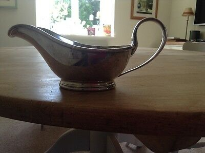 Mappin and Webb's triple deposit silver plate sauce boat