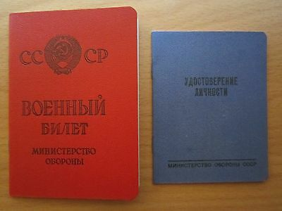 USSR Russia military ticket and soldier id book clean form blank empty