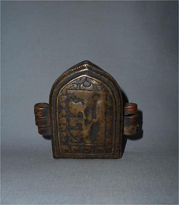 Antique Tibet TOP HIGH AGED USED COPPER BUDDHIST GAU AMULET CONTAINER