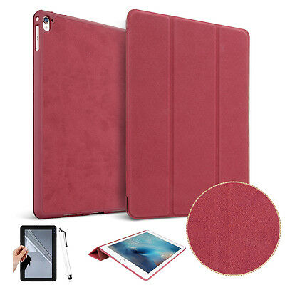 "For Apple iPad Pro 10.5"" 2017 Tablet Luxury Folio Leather Stand Case Cover Red"