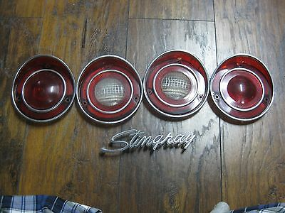C3 Corvette Original Rear Tail Lamp Lens Set - Used