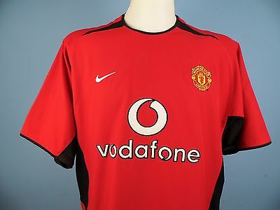 Authentic Manchester United 2002/04 Home Shirt Size Large Vodafone