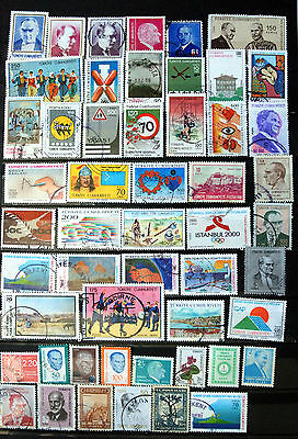 Great Collection of Different Used Turkey Stamps.