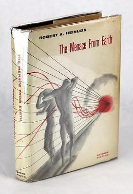 FIRST EDITION 1959 THE MENACE FROM EARTH ROBERT HEINLEIN SCIENCE FICTION HC w/DJ