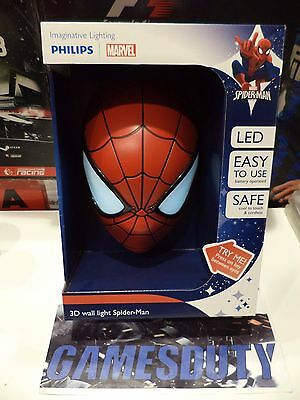 Philips Lampada da Parete Spider-Man in 3D, Batterie Incluse (T5r)