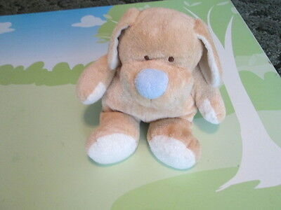 """Ty 2004 Baby Pluffies Tan Puppy Dog with Blue Nose 11"""""""