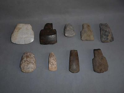 Antique Vietnam Cambodia TOP HIGH AGED ANCIENT CONVOLUTE NEOLITHIC STONE AXES