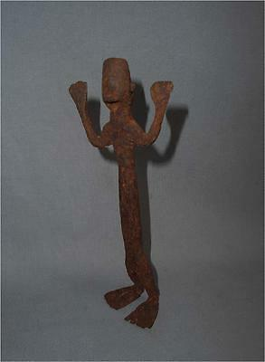Old Authentic Burkina Faso TOP HIGH AGED USED LOBI TRIBE FORGED IRON FIGURE