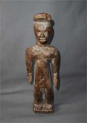 Old Authentic Nigeria TOP AGED USED IGBO TRIBE WOOD TRIBAL COLON SHRINE FIGURE