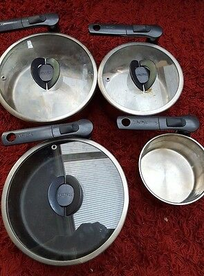 Tefal  Induction Stainless Steel Saucepans & frying pan Folding handles used