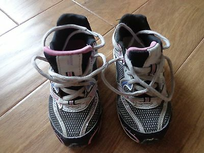 DANSKIN child GUC sz 11 /pink/black/white athletic lace up shoes