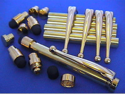 Woodturning TOUCH STYLUS kits(for Touchscreen)x 5 - Gold/Chrome/Gun Metal/Copper