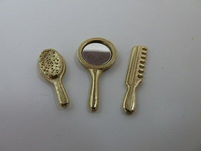 Dolls House Miniature 1:12th Scale Bathroom Accessory Brush Comb & Mirror (D103)