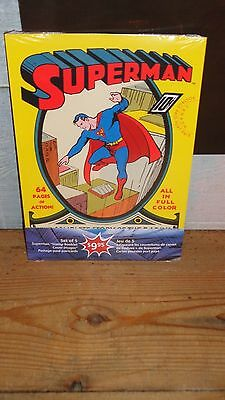 2013 Cpc Superman Set Of 5 Stamp Booklet Cover Images Postage Paid Postcards