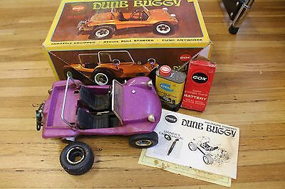 Cox Dune Buggy Remote Control Gas Powered .049 Engine Powered Tether Car Purple