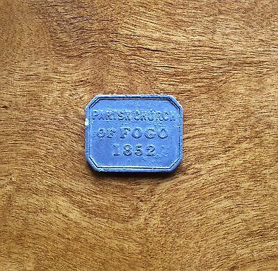 Scottish Communion Token 1852 Fogo BERWICKSHIRE (BR 2587)
