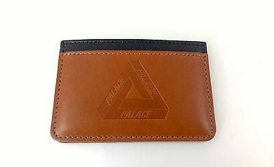 NEW PALACE SKATEBOARDS CARD HOLDER Wallet authentic Leather  black brown
