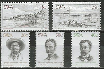 SOUTH WEST AFRICA 1983 Sc#503-7 CITY OF LUDERITZ COMPLETE MNH SET 0478