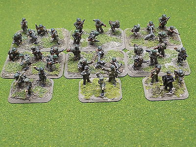 15mm WW2 GERMAN INFANTRY PLATOON 9 stands Painted Flames of War 41453