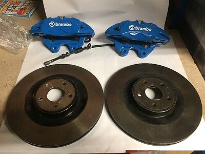 Ford Focus RS MK3 Brembo Front Brake Callipers & Disc Blue Mk2 ST 350mm 4pot