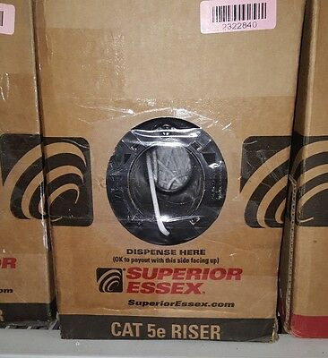 Superior Essex 51-240-55 4 Pair, 24AWG CAT 5e Riser Ethernet Cable 1000ft