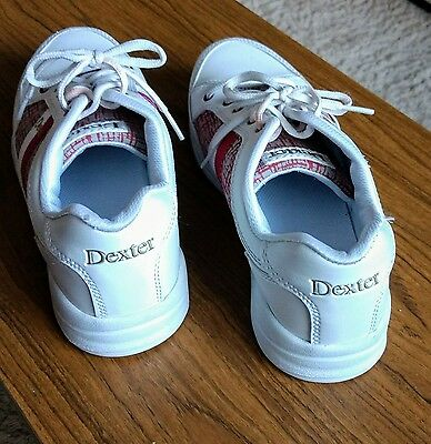 Dexter White/Red TenPin Bowling Shoes - size USA 9.5M, UK 5.5 - 6