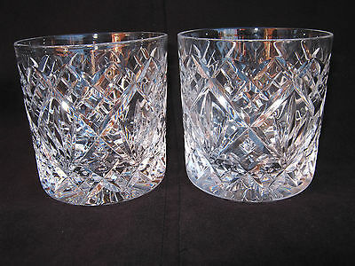 Pair of Stuart Crystal Whisky Glass Tumblers - Lovely Quality Signed
