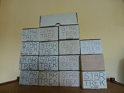 """Lot of 2622 cards """"16 boxes"""" 1991 25th Anniversary Star Trek Trading cards"""
