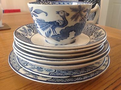 """Woods & Sons England """"Yuan"""" Plate, Saucer & Cup 9 pieces"""