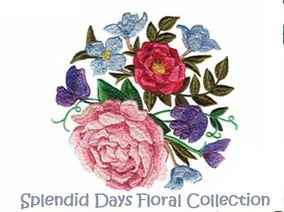 Splendid Days Floral Collection - Machine Embroidery Designs On Cd