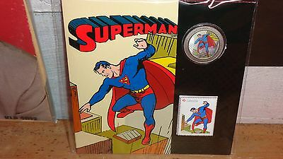 2013 Canadian 75th Anniv. of Superman Then & Now-Lenticular Coin and Stamp Set