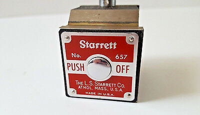 Starrett 657 Magnetic Indicator Base with Swivel Post