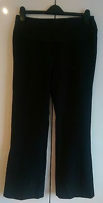 Dorothy Perkins MATERNITY black smart / work trousers. Size 8