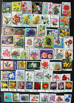 A Fine Collection Of Stamps Showing Flowers, Flower Thematics.