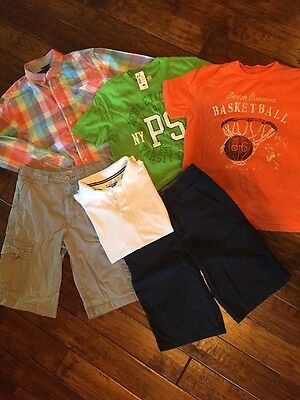 Lot Of Boys Shorts And Shirts, Tommy Hilfiger, Gap, PS Aeropostale, Size 12/14