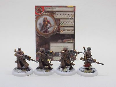 Warmachine Khador WIDOWMAKERS x4 Painted Privateer Press 41360