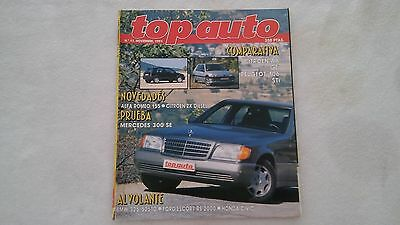 Revista Top Auto N 11- 1991 - Prueba Mercedes 300 Se- Honda Civic