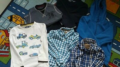 A bundle of boy clothes 4-5 years shirt top fleece hoodie 6 items