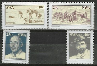 SOUTH WEST AFRICA 1983 Sc508-11 DISCOVERY OF DIAMONDS LUDERITZ COMPLETE MNH 0757