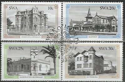 SOUTH WEST AFRICA 1984 Sc#520-3 HISTORICAL BUILDINGS COMPLETE USED SET 0795