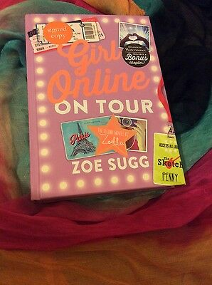 GIRL ONLINE ON TOUR by ZOELLA / ZOE SUGG  (signed copy) - hardback