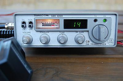 Transcom GBX 4000 40 Channel CB radio (Tested with new mic)