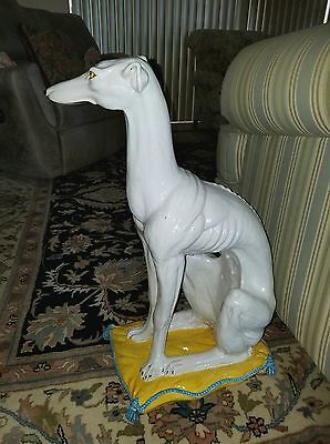 Life Size Italian Greyhound Ceramic Statue